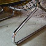 Fauteuils lounge moderniste cuir et chrome design scandinave moderniste