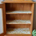 Meuble de pharmacie vintage rétro shabby chic années 40 bois brut antique art déco french meuble