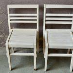 Chaises anciennes René Gabriel années 50 reconstruction minimaliste mobilier français