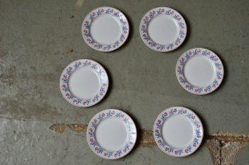 Assiettes plates série lot de 6 art déco service Villeroy et Boch