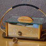 Boite à bijoux ancienne bohème laiton et miroir