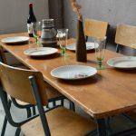 Ensemble table et chaises indus Mullca vintage style industriel